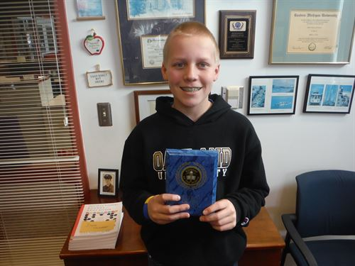 Sam Keranen - 7th Grade Student of the Month - March