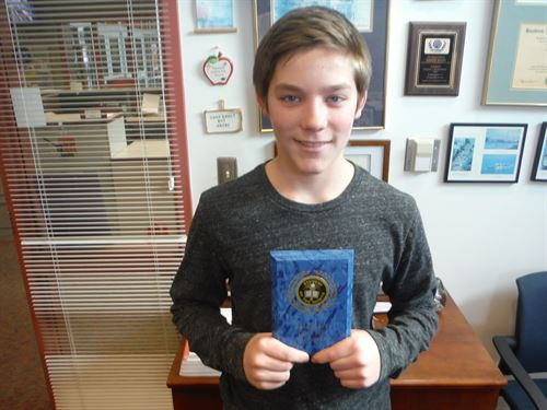Todd Pietila - 8th Grade March Student of the Month