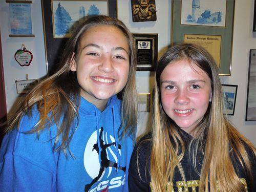 October Students of the Month, Kylie Swierkos and Holly McCracken